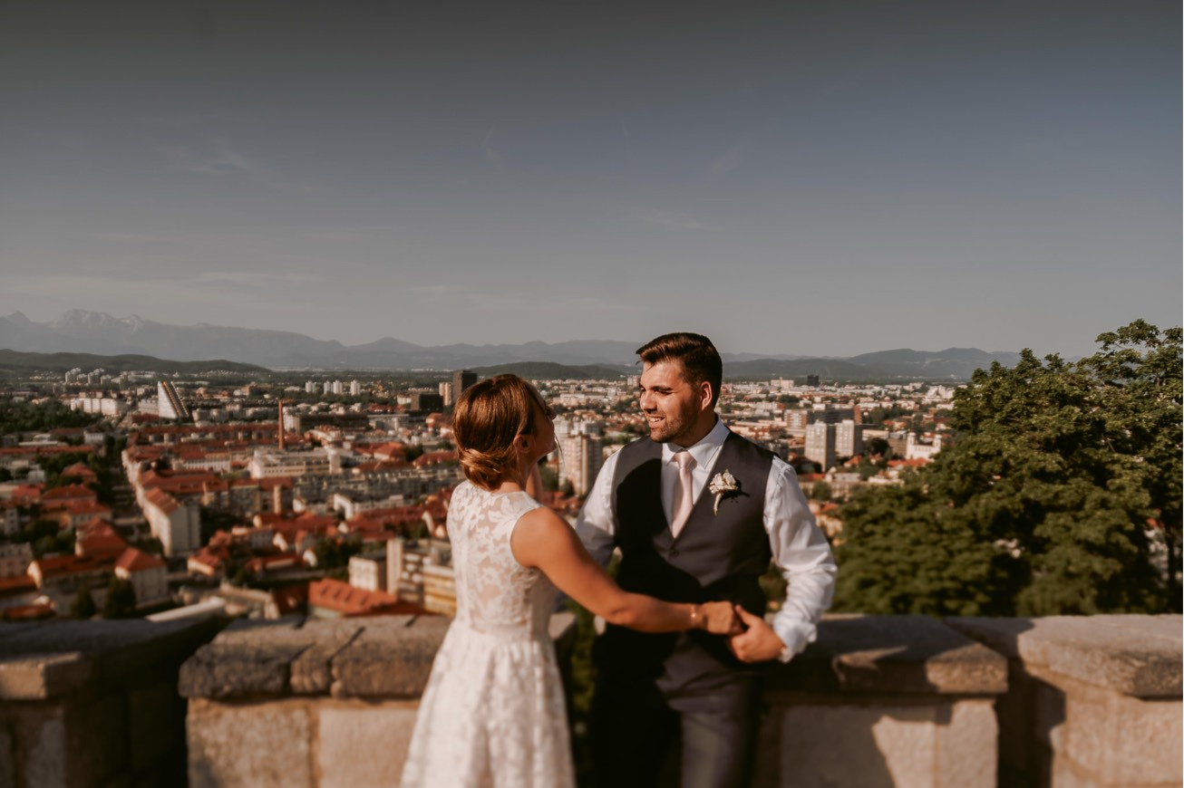 Ljubljana castle Dvor jezersek Wedding Photographer 41