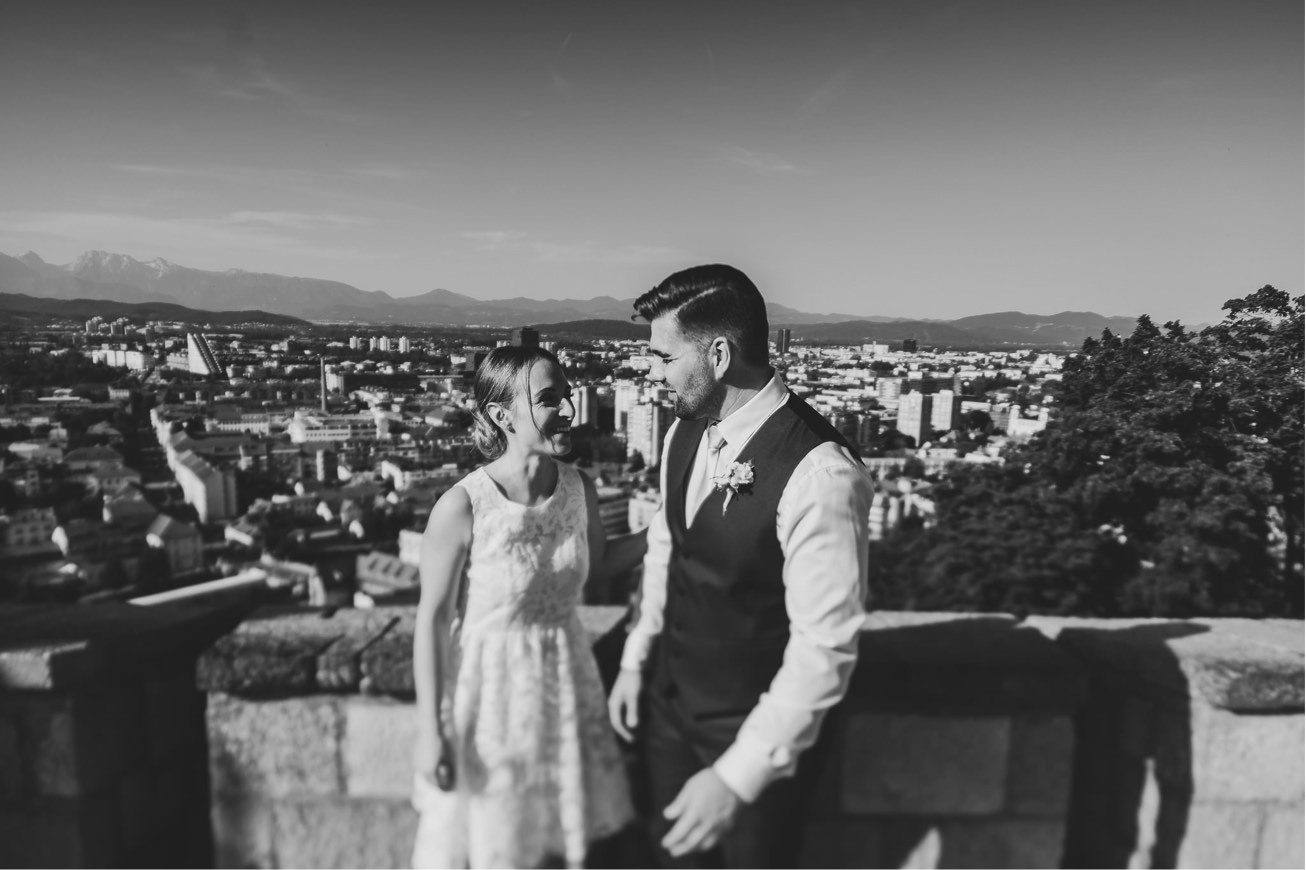 Ljubljana castle Dvor jezersek Wedding Photographer 42