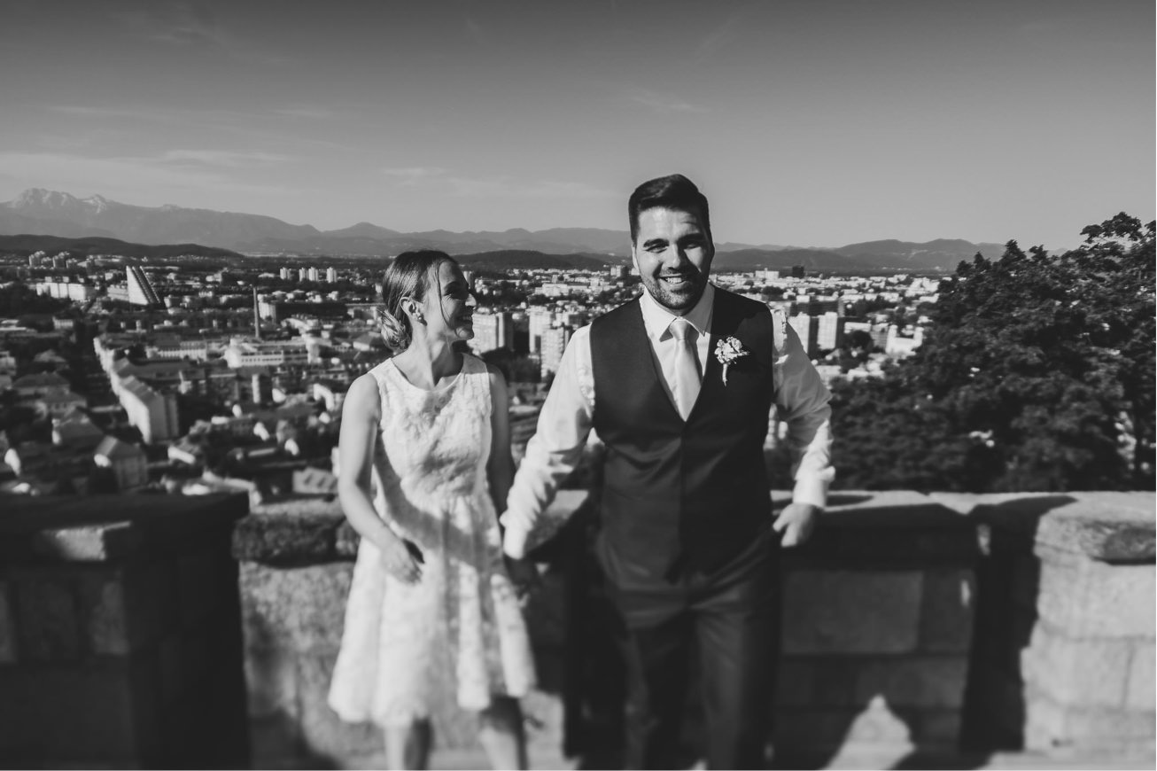 Ljubljana castle Dvor jezersek Wedding Photographer 43