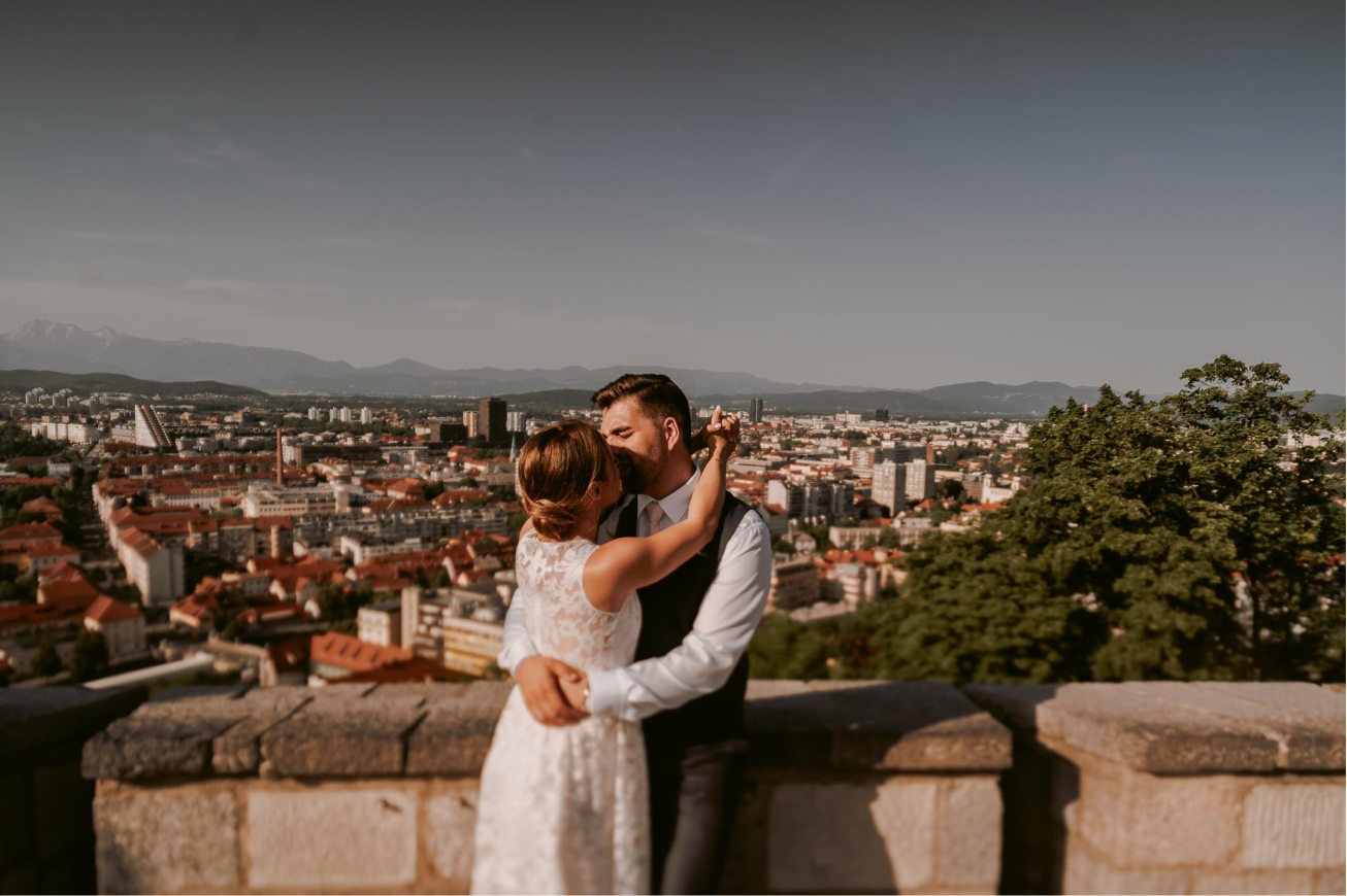 Ljubljana castle Dvor jezersek Wedding Photographer 44