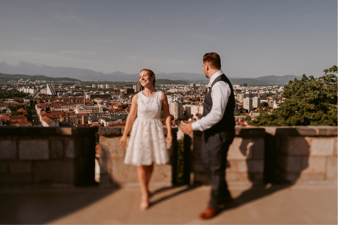 Ljubljana castle Dvor jezersek Wedding Photographer 45