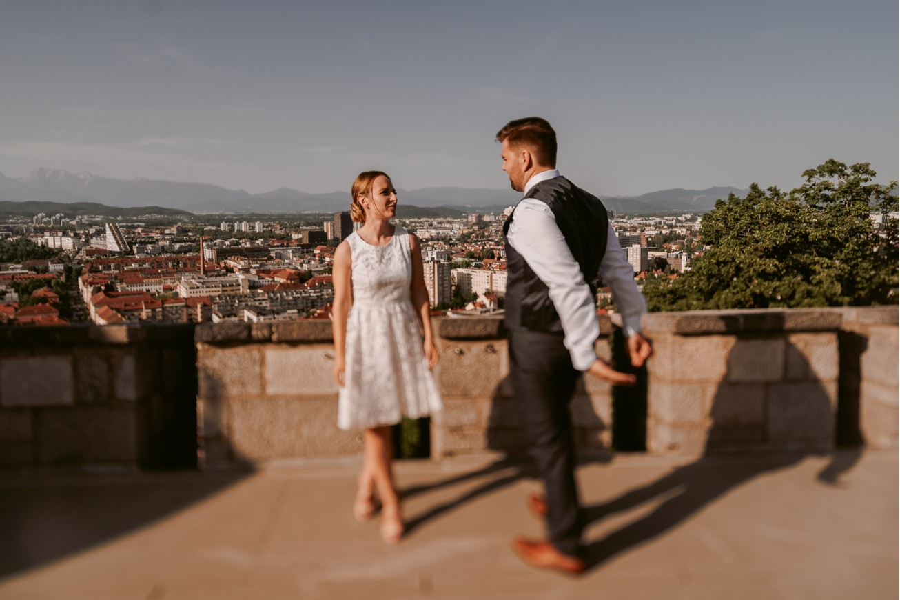 Ljubljana castle Dvor jezersek Wedding Photographer 46