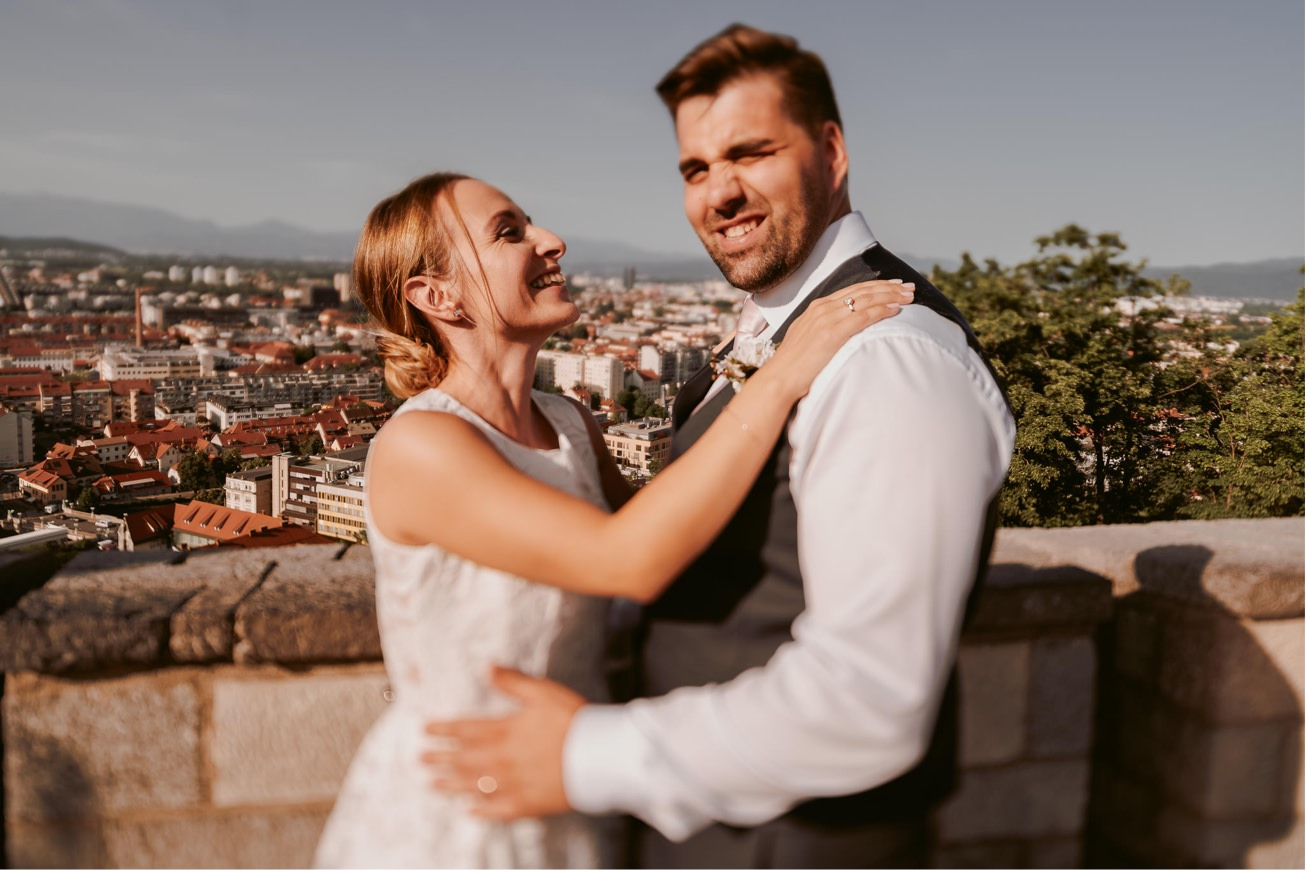 Ljubljana castle Dvor jezersek Wedding Photographer 47