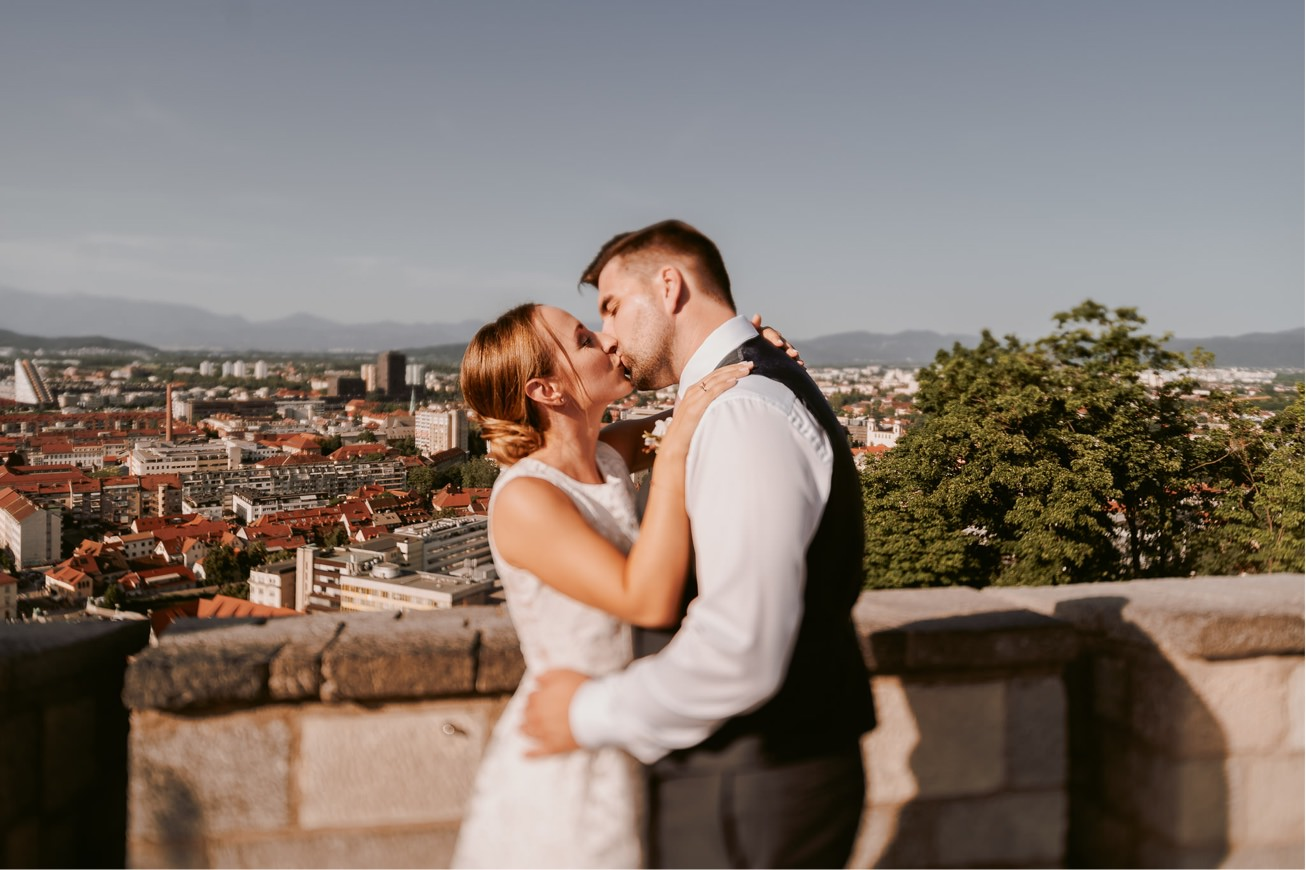 Ljubljana castle Dvor jezersek Wedding Photographer 48