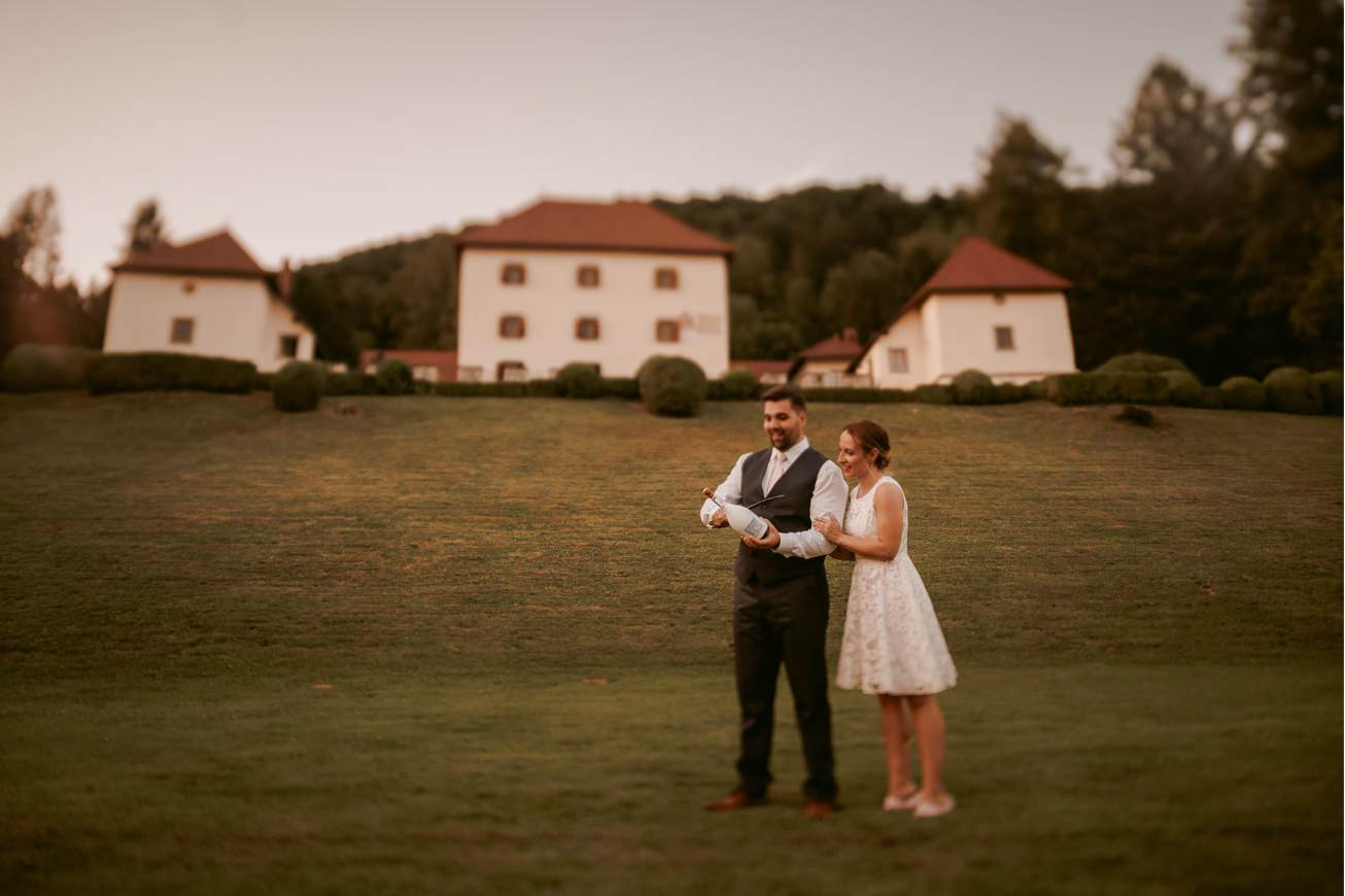 Ljubljana castle Dvor jezersek Wedding Photographer 78