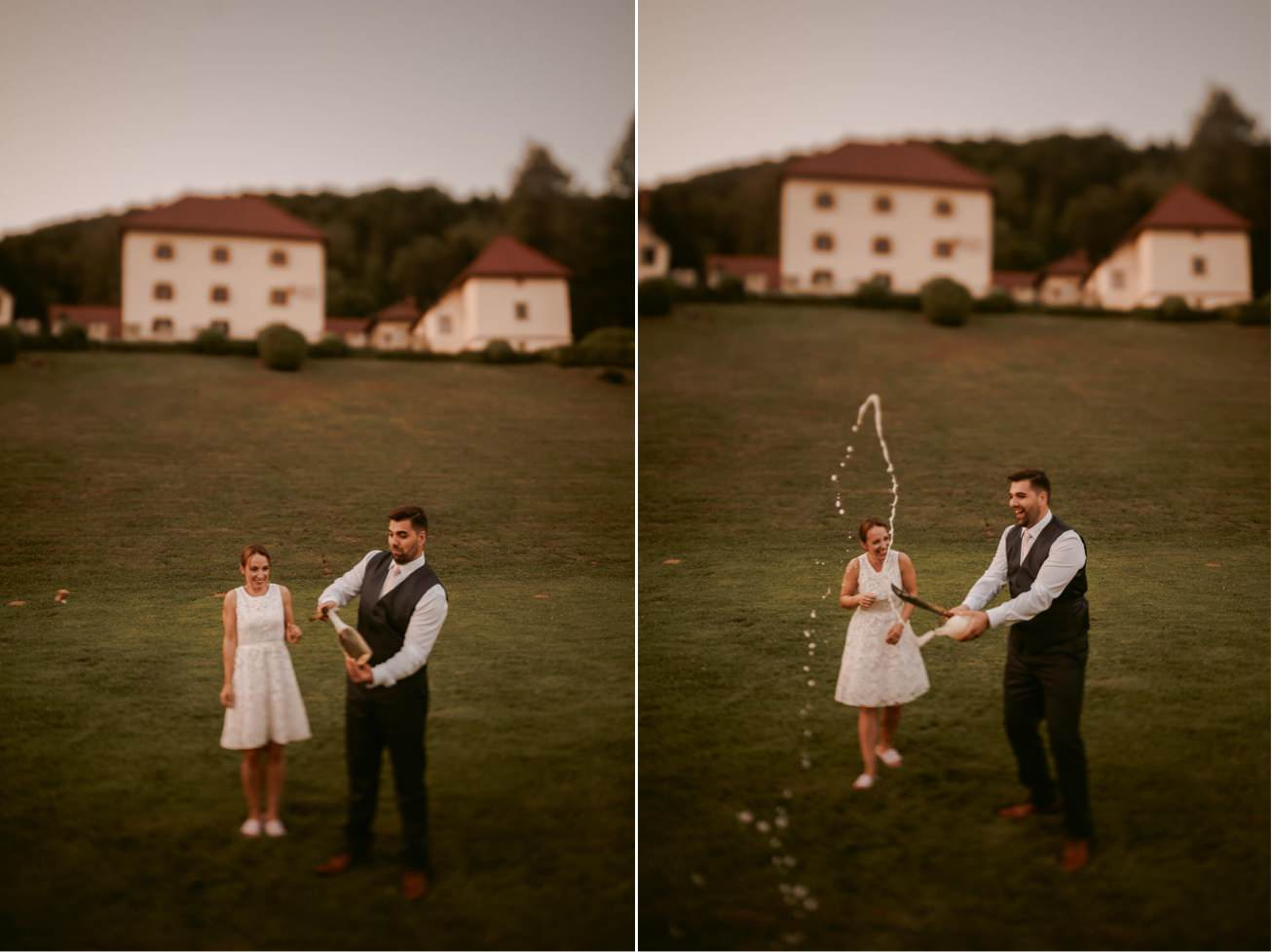 Ljubljana castle Dvor jezersek Wedding Photographer 79
