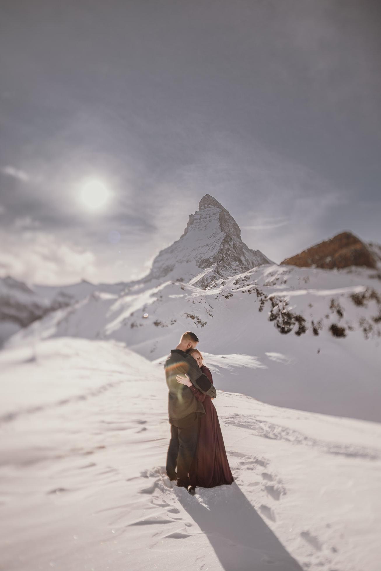 31 couple session matterhorn photographer elopement proposal