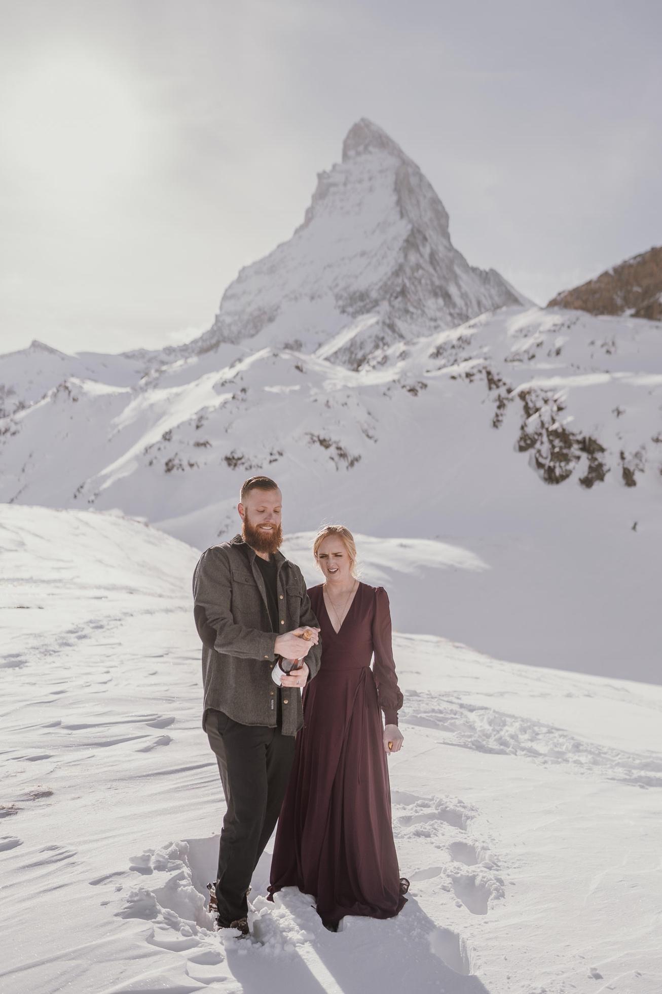 34 couple session matterhorn photographer elopement proposal