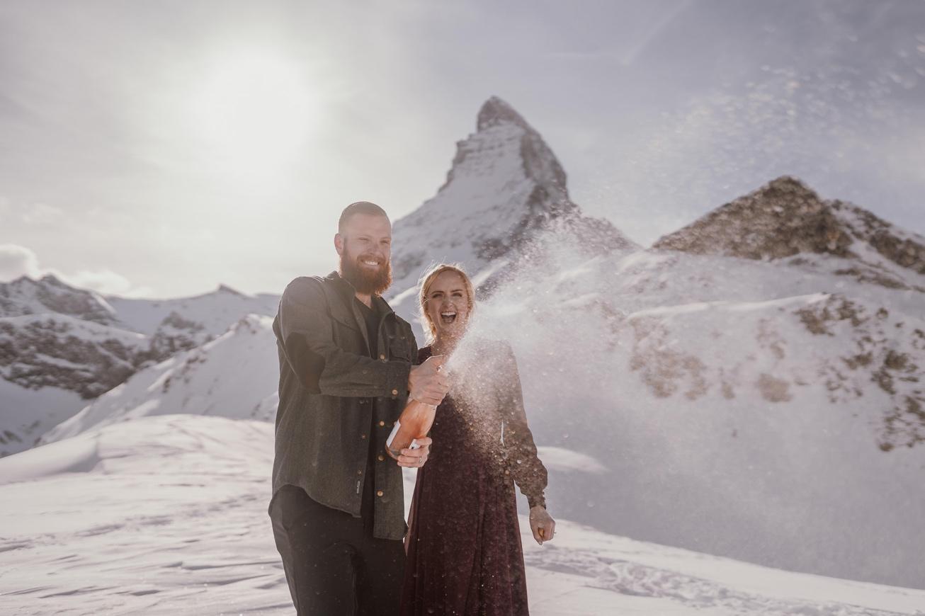 35 couple session matterhorn photographer elopement proposal