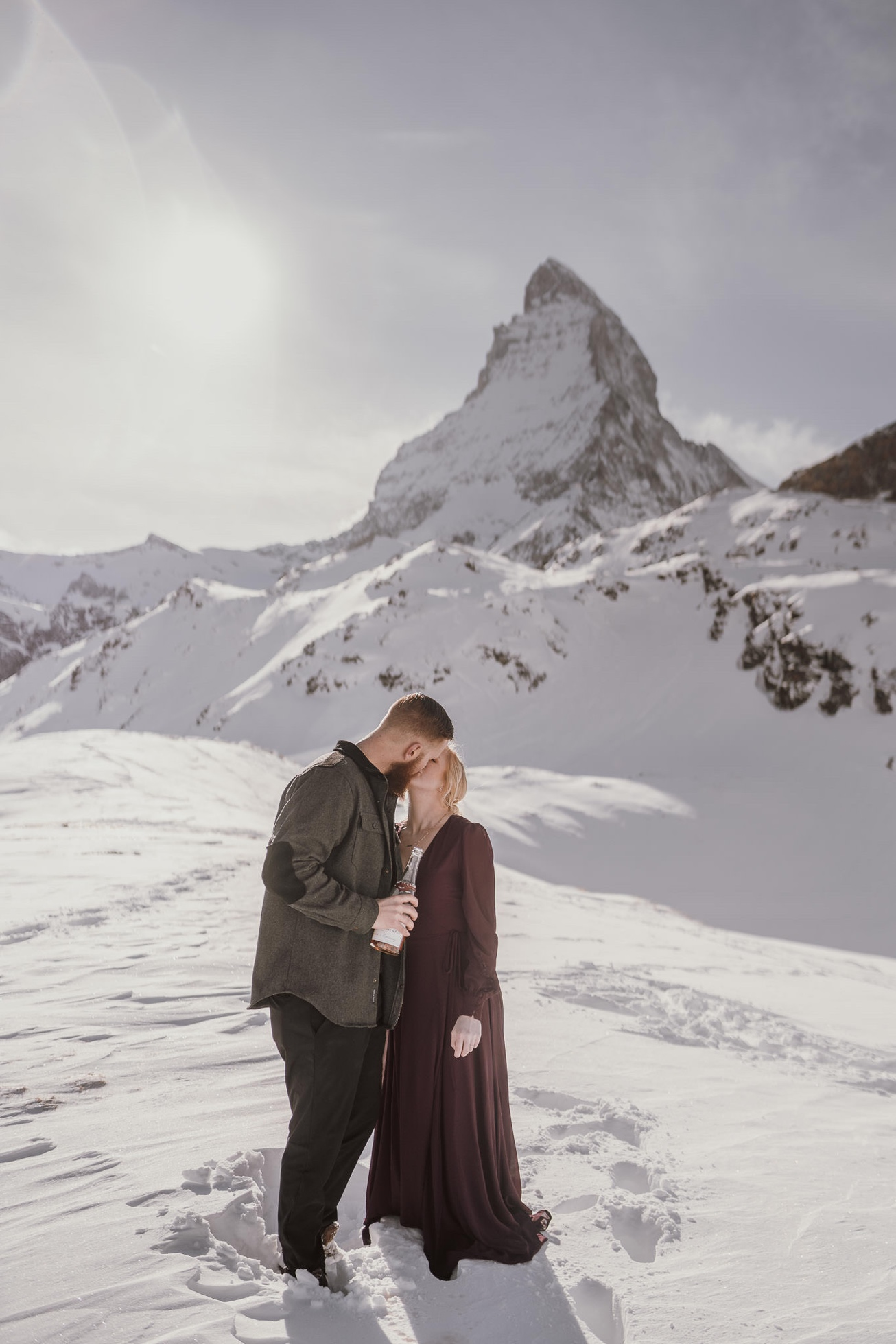 40 couple session matterhorn photographer elopement proposal