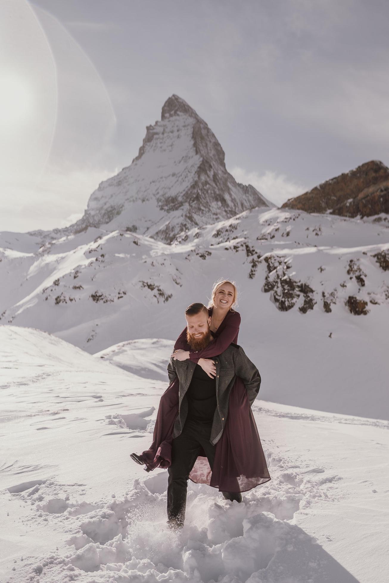 41 couple session matterhorn photographer elopement proposal